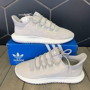 New W/ Box! Adidas Tubular Shadow Grey White Shoe